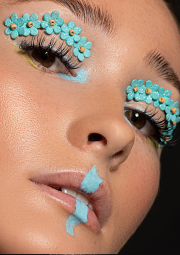 Creative beauty with texture as published in British Editorial magazine
