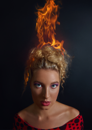 Girl on fire as published in British Editorial magazine