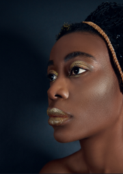 Close up  taken from a fashion shoot publis