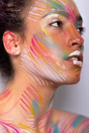 Paint inspired makeup