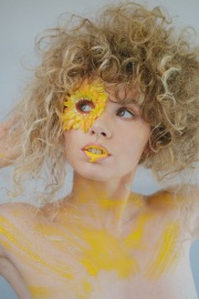 Flower petals and lip drips