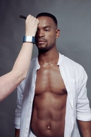 Shoot prep on Strictly Come Dancing Pro dancer Johannes Radebe