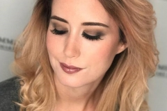 Client wearing Charlotte Tilbury eyeshadow for her special occasion beauty makeup