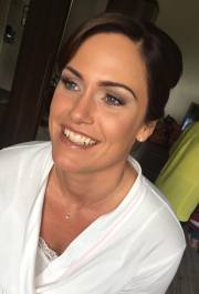 Natural bridal makeup on Bride Nicola for her wedding at The Sporting Lodge, Middlesbrough. Makeup by Gemma Rimmington.