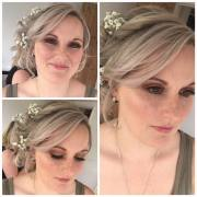 Beautiful natural bridal makeup for Bridesmaid Charlotte, getting ready at Osborne Cottage near Danby. Hair by Dream Hairstyling and Beauty. Makeup by Gemma Rimmington.