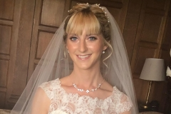 Beautiful natural bridal makeup on bride Vicky at Rushpool Hall