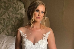 Flawless bridal makeup for Gemma at Wynyard Hall