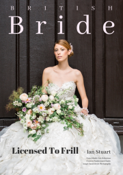 Front cover bridal editorial makeup for British Bride Magazine
