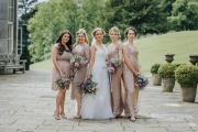 Bride Gemma and her bridal party at Wynyard Hall