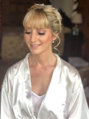 Glowing natural makeup on bride Vicky who got married at Rushpool Hall