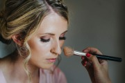 Bridemaid makeup in soft pretty pinks and nudes.  Taken at Wynyard Hall