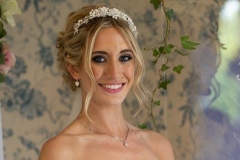 Flawless bridal makeup on bride Harriet at Rushpool Hall