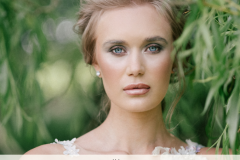 Dewy boho bridal makeup for British Bride Magazine