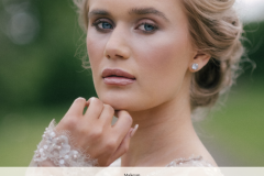Classic and timeless bridal makeup for British Bride Magazine