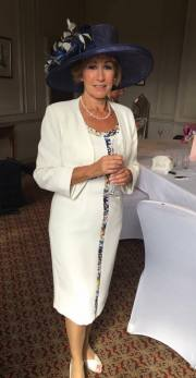 Glamorous Mother of the Bride at Crathorne Hall in Yarm. Makeup by Gemma Rimmington.