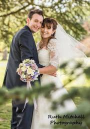 Bride Jenny and Groom Scott look beautiful at their wedding at Acklam Hall, Middlesbrough. Makeup by Gemma Rimmington.