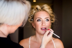 Bridal preparation on stunning bride Layla on her wedding morning at York Marriott Hotel