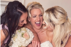 A perfect bridal preparation moment captured before Fiona's wedding day at Middleton Lodge Estate