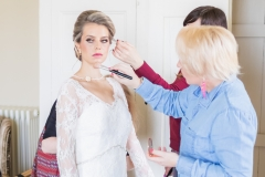 Bridal preparation before the British Bride front cover photoshoot