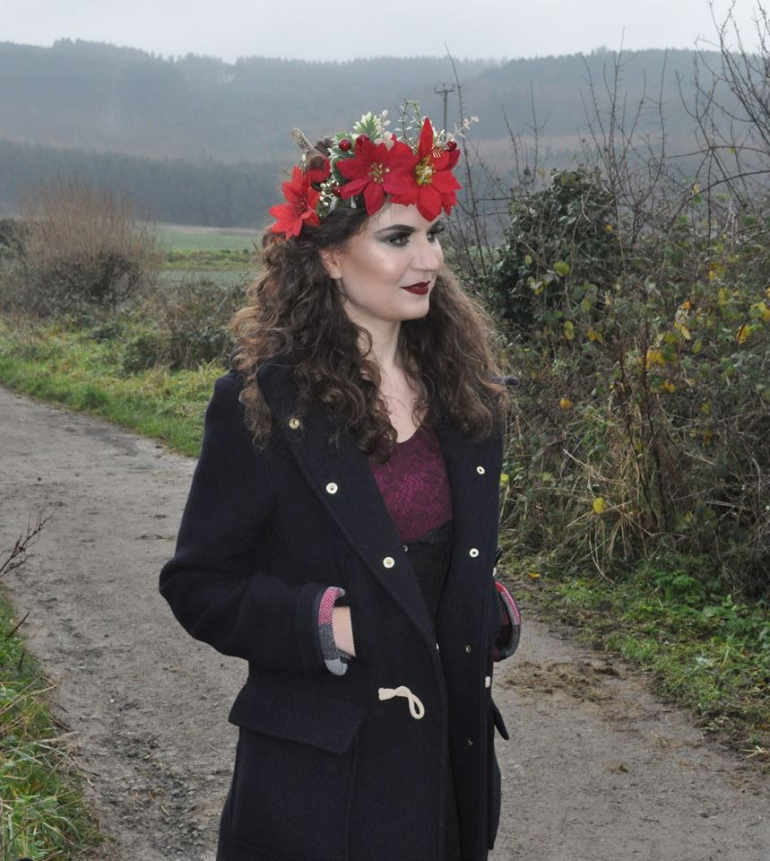 Luna Lily's flower crown shoot (camera phone snap in Guisborough hills on location)