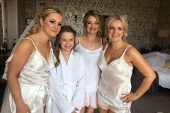 Bride Kirsty looked very glamourous for her wedding at Grinkle Park.