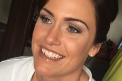 Natural and glam makeup on bride