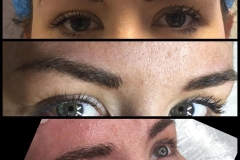 Client wanted a better shape and more defination in her brows. Microblading filled in the gaps and boosted her colour.