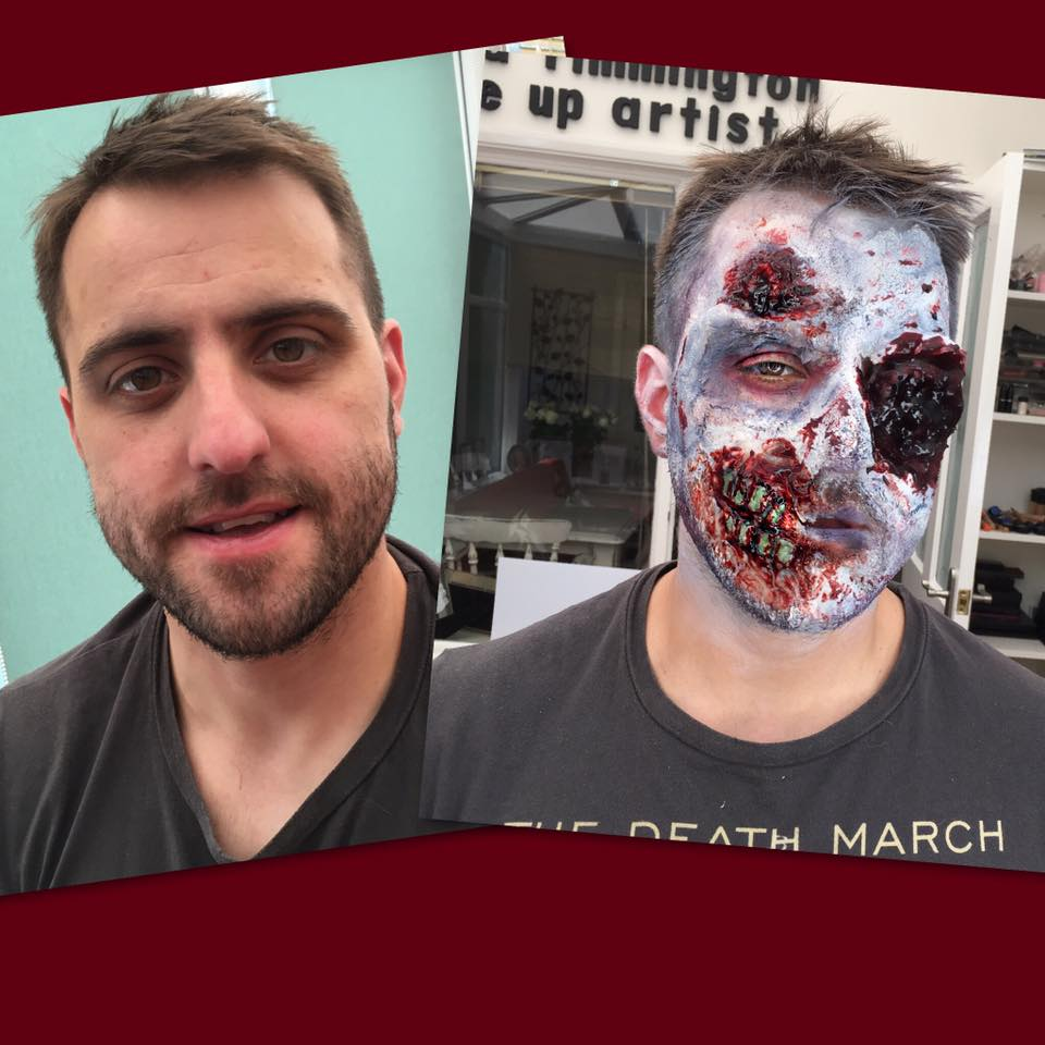 The Walking Dead inspired zombie makeup