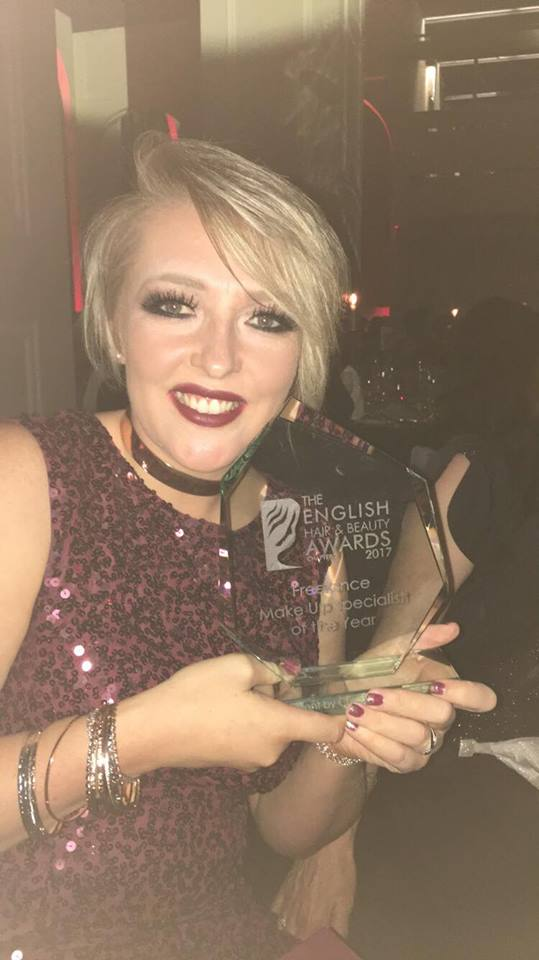 "Award Winner ""Specialist Freelance Makeup Artist"" at the English Hair and Beauty Awards"