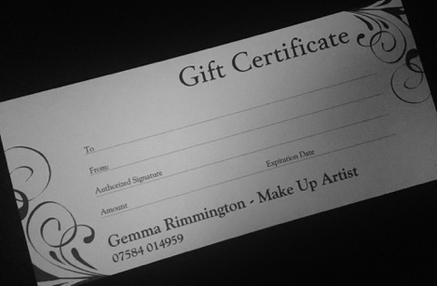 Gemma Rimmington Makeup Gift Vouchers