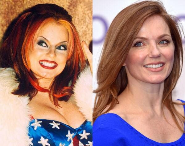 Geri Halliwell before and after