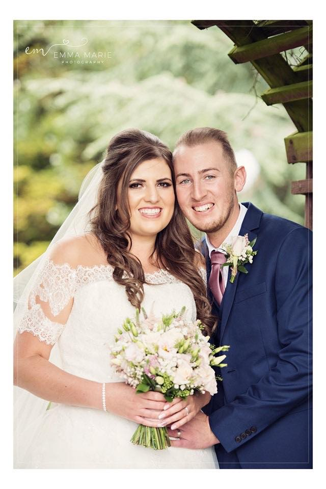 Glowing skin, smokey eye and a nude lip was the chosen bridal look for stunning Bride Aimee