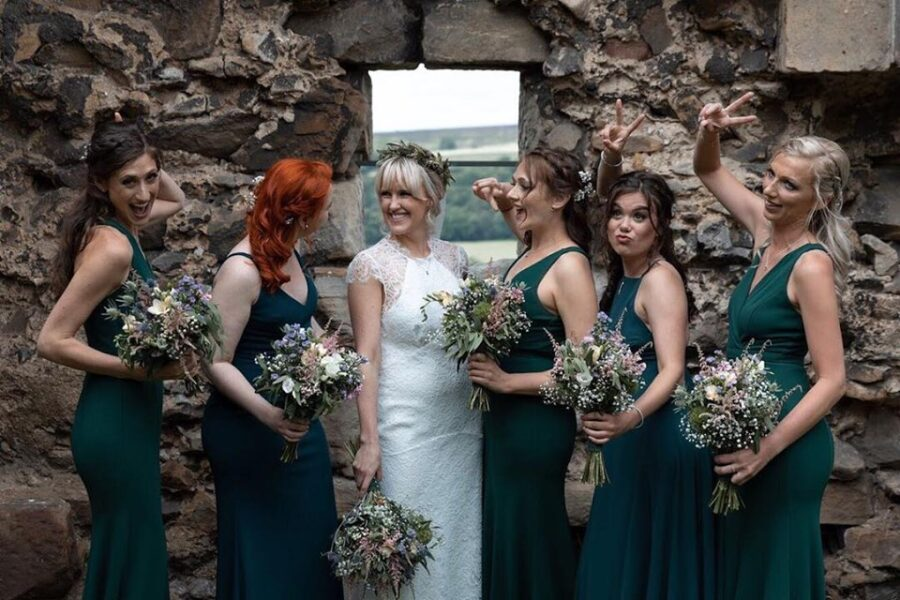 Pretty bridal party makeup for these bridesmaids who all chose a natural makeup style
