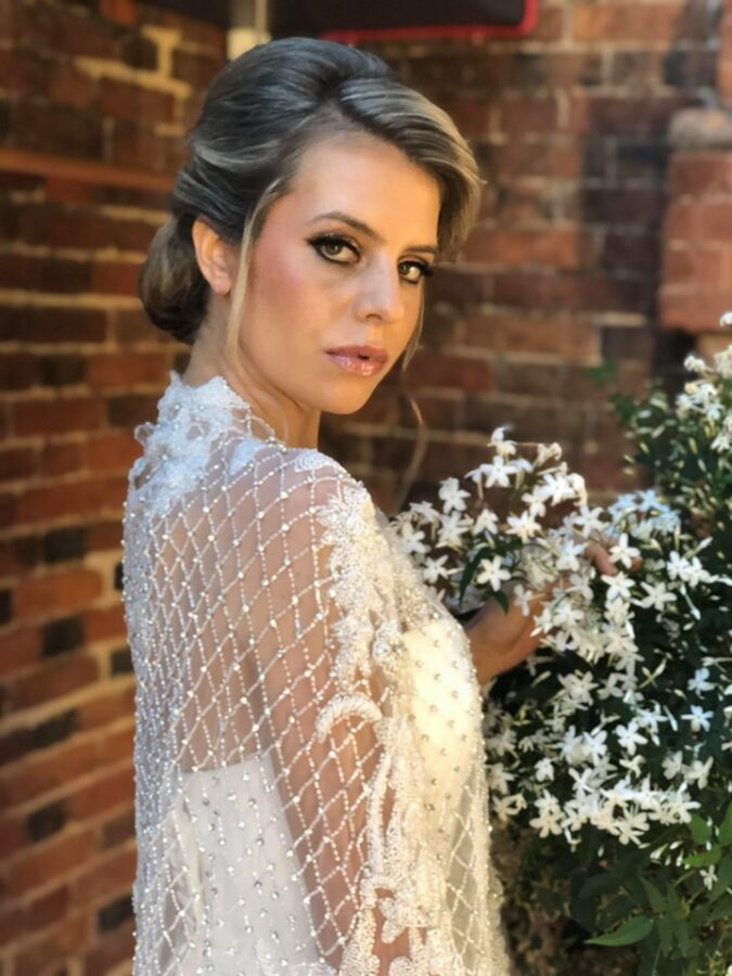 Glowing skin and smokey eyes for bridal model at Chicheley Hall