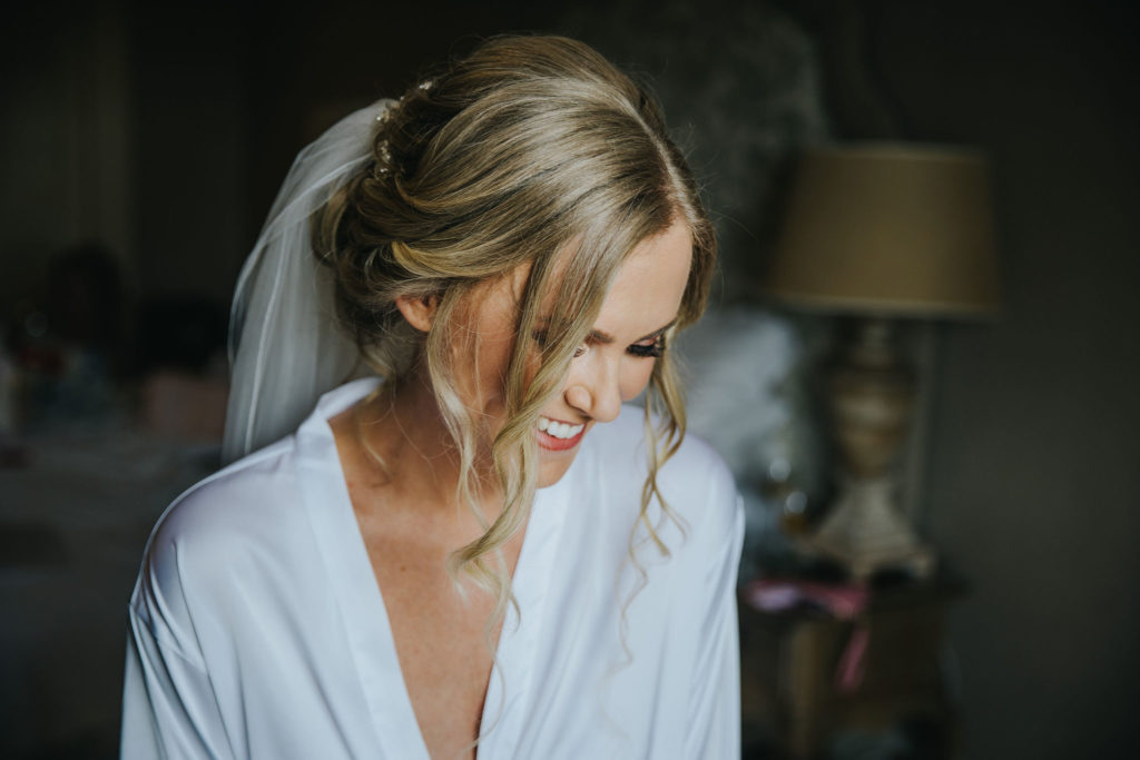 Glowing flawless bridal party makeup for Gemma on the morning of her wedding