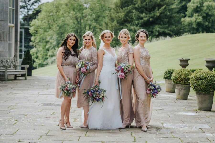 Stunning bride squad looking flawless